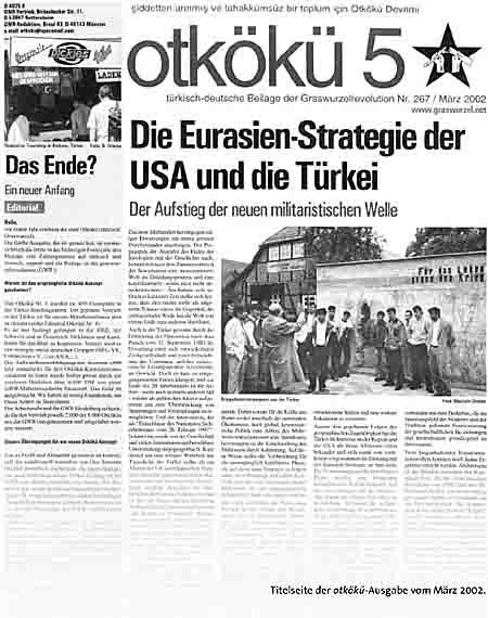 Titelseite der otkökü-Ausgabe vom März 2002