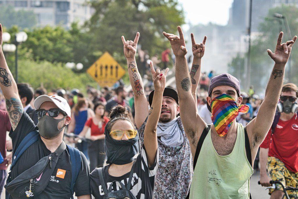 Protestas en Santiago de Chile, 2019.