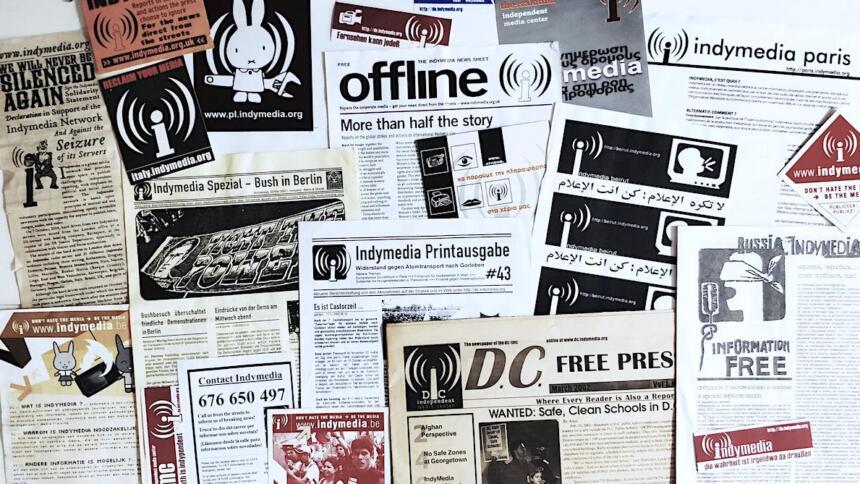 Foto von internationalen Indymedia Printausgaben